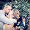 Besos de boda.