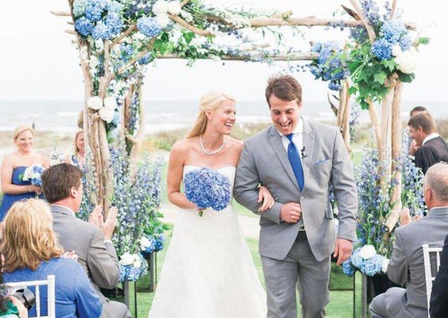Azul marinho e cinzento perolado, as tonalidades perfeitas para um casamento com classe
