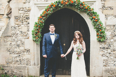 Real Wedding: El entorno fantástico de Alicia en el país de las maravillas con lindos toques hipster
