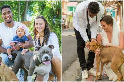Este jogador de futebol americano usou o seu casamento para ajudar cães desabrigados