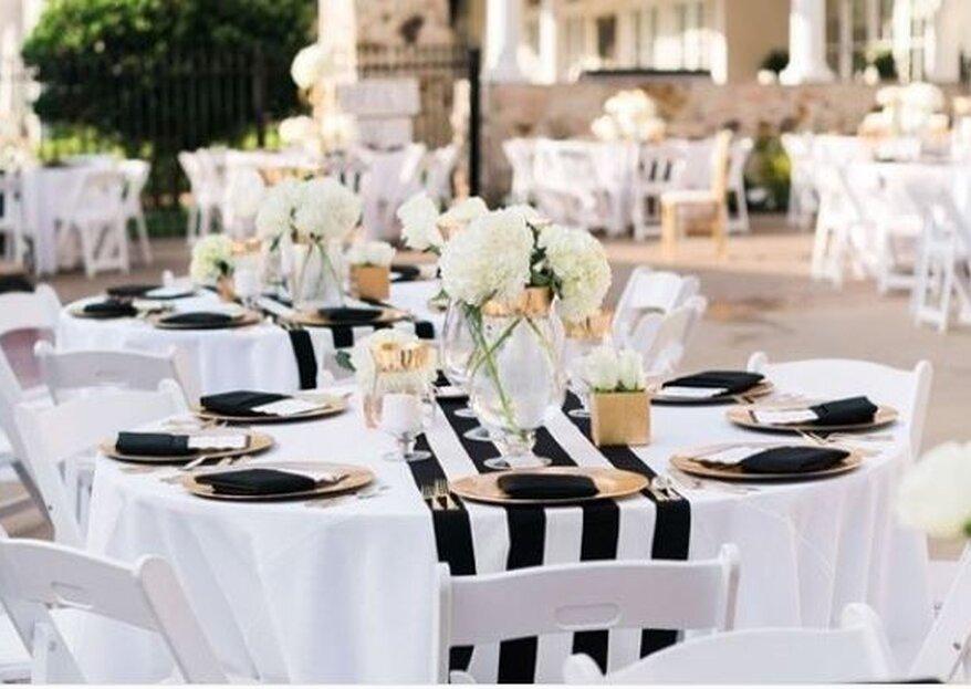 Una boda a rayas: El patrón ideal para decorar tu boda