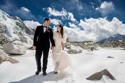 Esta pareja se casó en el Everest después de tres semanas de 'trekking'