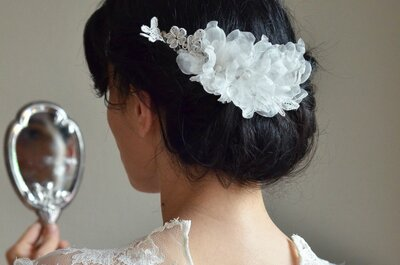 Bridal hair and floral accessories