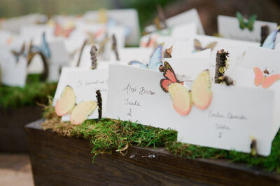El encanto de las mariposas ¡ahora en la decoración de tu boda!