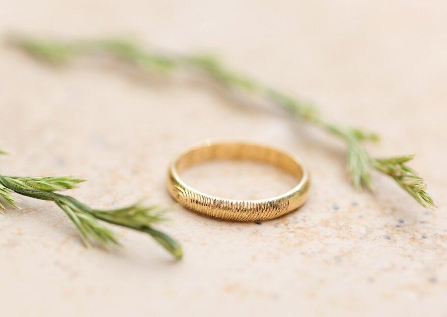 Dejando huella: la unión más importante sellada con las alianzas de boda más especiales