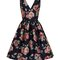 Chi Chi London Curve Navy Floral Midi Dress, Dorothy Perkins.