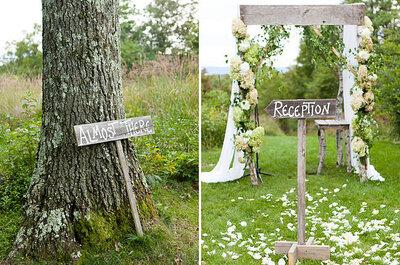 Donnez une touche rustique – chic à votre mariage avec des éléments en bois