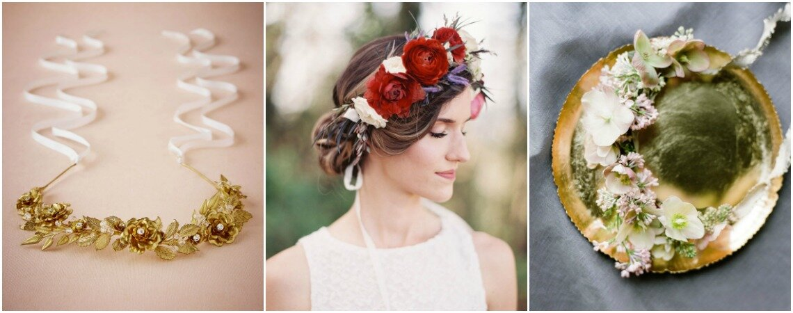 Couronnes de fleurs pour mariée : style et naturel assuré !