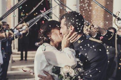 Mónica y Juanfran: la romántica boda llena de detalles de dos militares