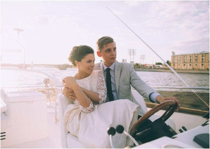 Llegada de los novios a la celebración de boda: ¡5 formas muy originales para sorprender!