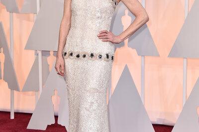 Seu vestido de noiva inspirado nos melhores looks das celebridades do Oscar 2015