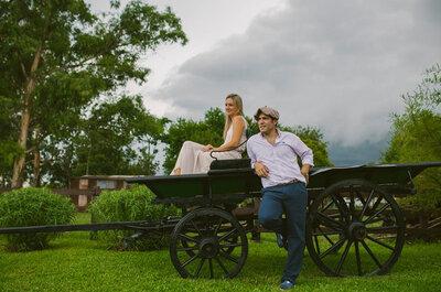 Una sesión pre boda muy romántica en el campo