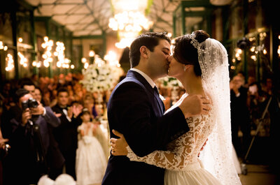 Real Wedding: Lais + Davi - A Classic & Luxurious Brazilian Wedding in a Glass Pavilion Full of Flowers