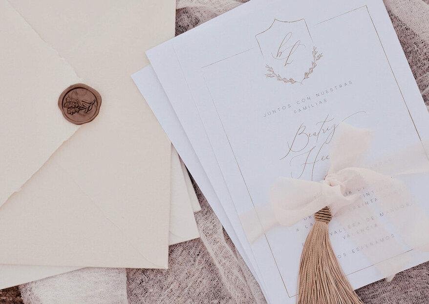 Los 4 elementos clave que tu invitación de boda debe tener