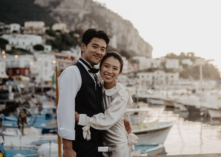 La magia dell'Oriente tra le strade di Capri: il post wedding di Takayuki e Chihiro