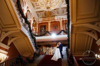Love sparkles: зимняя свадьба Марии и Владимира