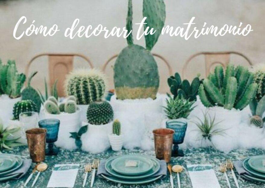Cómo decorar tu matrimonio. ¡Crea la atmósfera perfecta en cinco pasos!