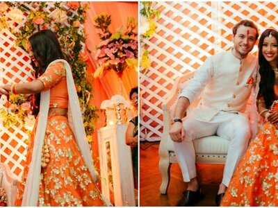 The Peach Themed Engagement of Tuhina and Filip - Doesn´t get more elegant than this!