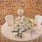Rose bianche e candele per questo allestimento proposto dal Castello Bolognini di Sant'Angelo Lodigiano
