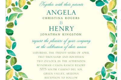 Los 10 tipos de letra más usados en invitaciones de boda