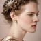 Glamorous hair braid.