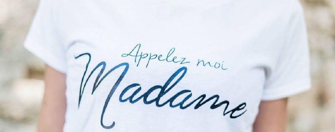 Pile Poil Plume : Craquez pour un t-shirt Appelez-moi Madame au lendemain de votre mariage