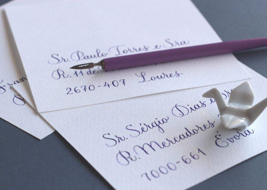 Sil &Soul: caligrafia com alma para os seus convites de casamento e estacionário