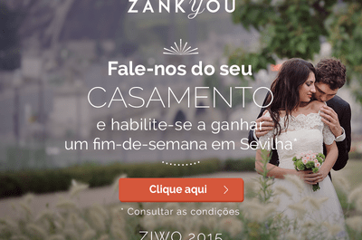 Participe no segundo inquérito Zankyou sobre casamentos e ganhe um fim-de-semana em Sevilha!