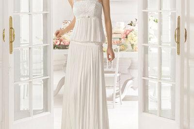 Maravilhosa selecção de vestidos de noiva da colecção Aire Barcelona 2015