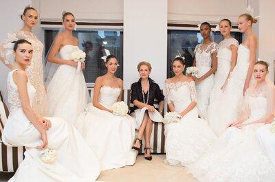 Romance y fantasía: Dos adjetivos confeccionados en los vestidos de novia Carolina Herrera otoño 2015