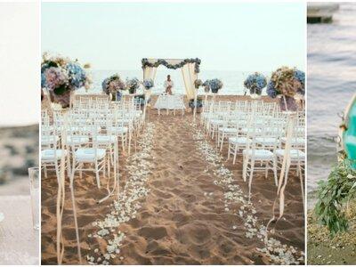 Decoratie voor een bruiloft op het strand: een droomdag op een unieke locatie