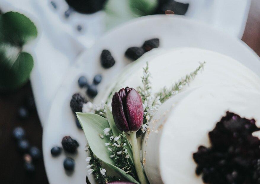 Bolos de casamento com detalhes gelados