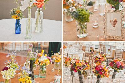 Potes, garrafas e vidrinhos: charme e romantismo na decoração do seu casamento