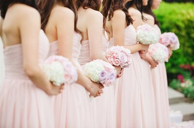 A Touch of Blush: Pale Pink Bridal Accents