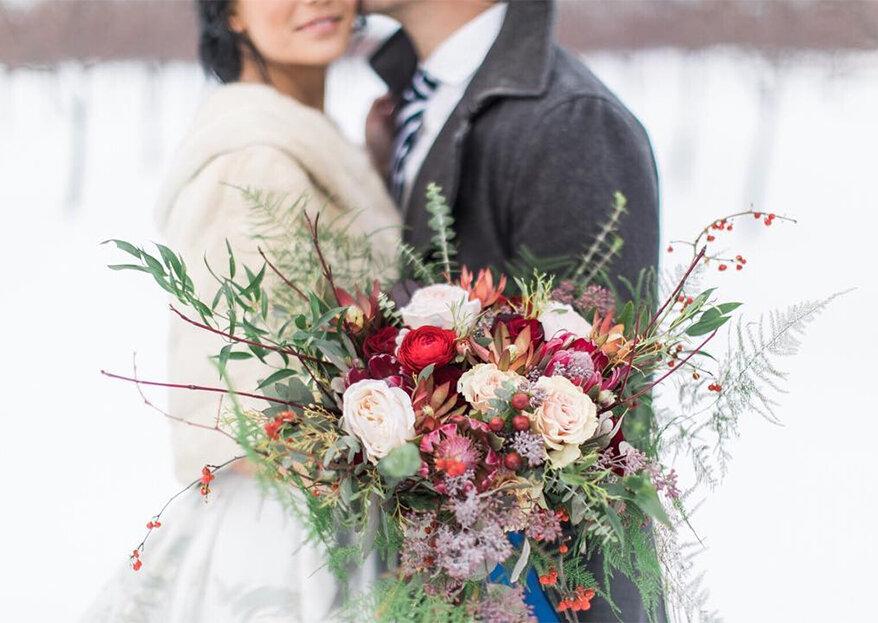 Componha um bouquet de inverno perfeito para o seu casamento