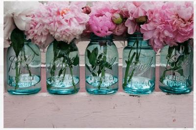 Hochzeitsdekoration mit Gläsern – der neue Trend für 2014