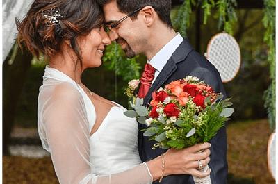 Una decoración romántica y floral: la boda de Elisabet y Juan
