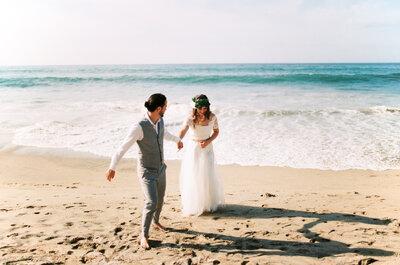 ¿Cómo elegir mi vestido si mi boda es en la playa?