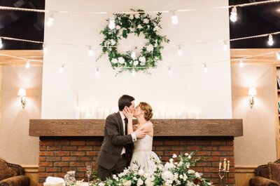 Золотая элегантность: свадьба Ольги и Олега