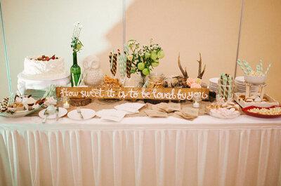 Deja que se sirvan de todo: Sorprende a tus invitados con un buffet delicioso en el banquete de tu boda