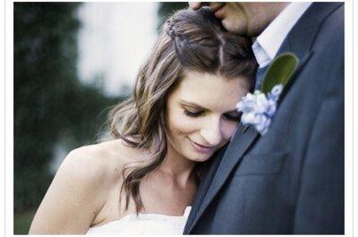 Sugestões de penteados para noivas românticas