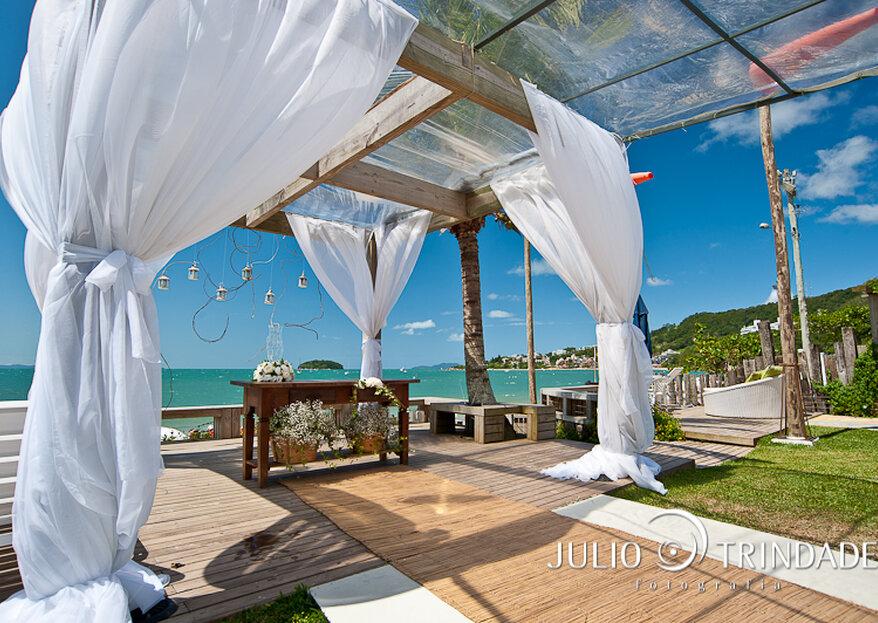 Os locais mais incríveis para casar na praia em Florianópolis