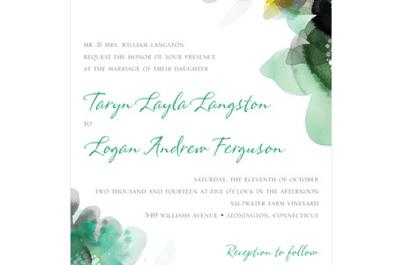 Invitaciones de boda en tono verde esmeralda, el color del año 2013
