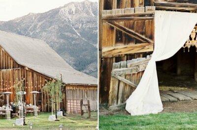 Tante idee chic per un matrimonio rustic all'insegna della natura