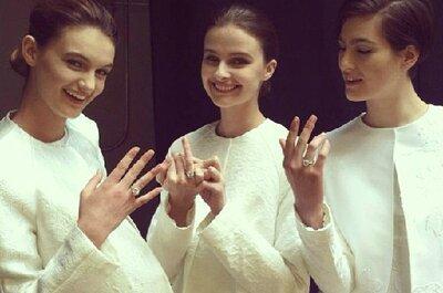 Os românticos vestidos de noiva Monique Lhuillier 2014