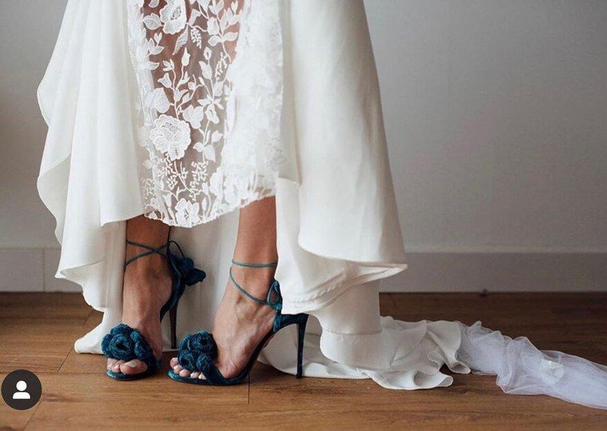"""8 modi di indossare """"qualcosa di blu"""" per il tuo matrimonio"""