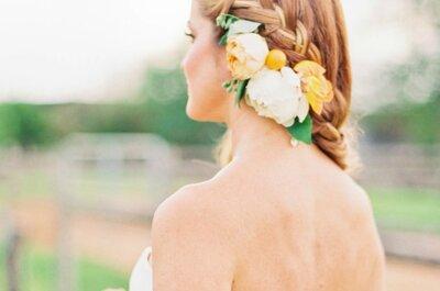 Penteados informais para noivas deliciosamente modernas