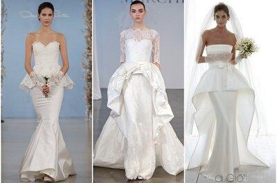 Tendencias: vestidos de novia con doble falda para tu boda en 2014