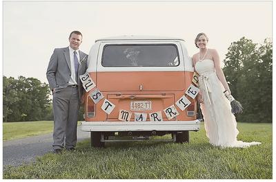 Ideas en decoración: Un coche de novios con mucha personalidad