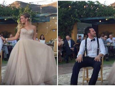 Zie nu: een verrassende openingsdans door een prachtig bruidspaar!